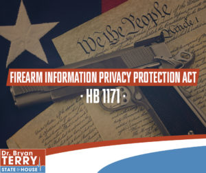 Rep. Bryan Terry Sponsors the Firearm Information Privacy Protection Act